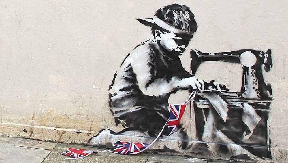 """Slave Labour"" de Banksy"