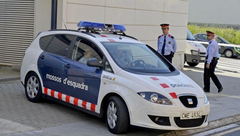 Un coche de los Mossos d'Esquadra, en un suceso.