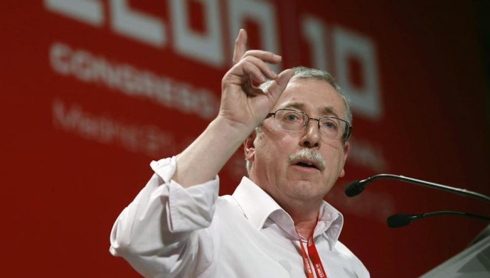 El secretario general saliente de CCOO, Ignacio Fernández Toxo,
