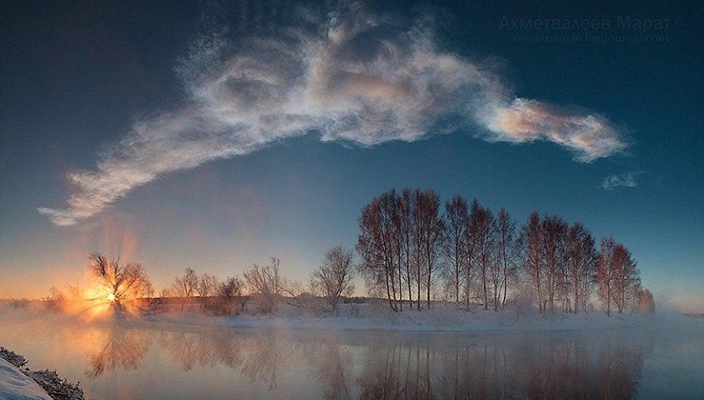 Reflejos de sol sobre el agua