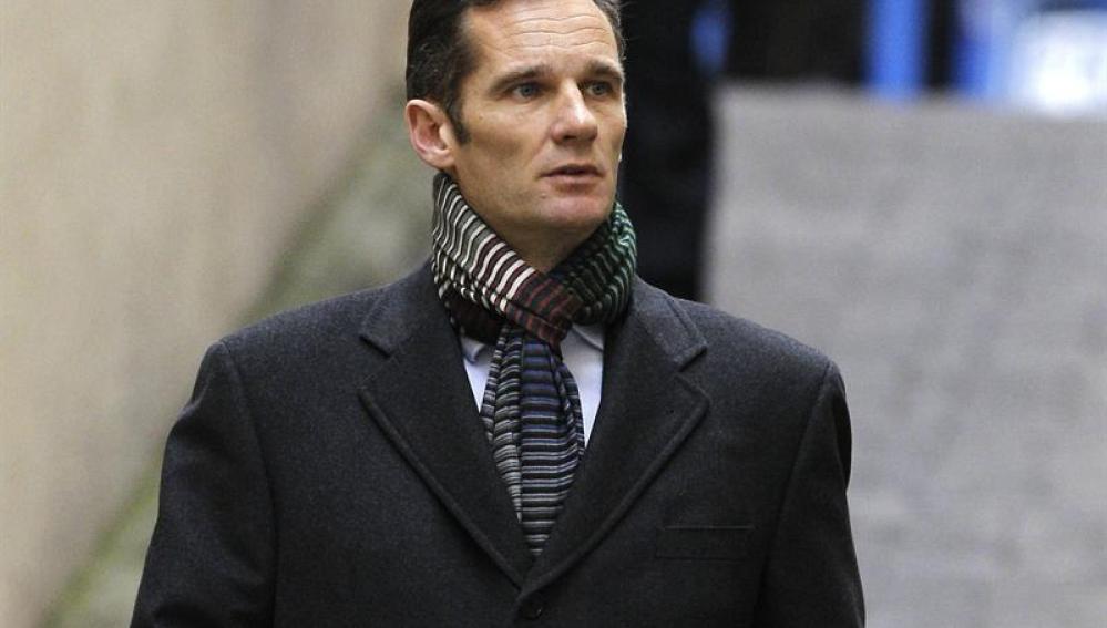 Iñaki Urdangarin a su llegada al juzgado de Palma