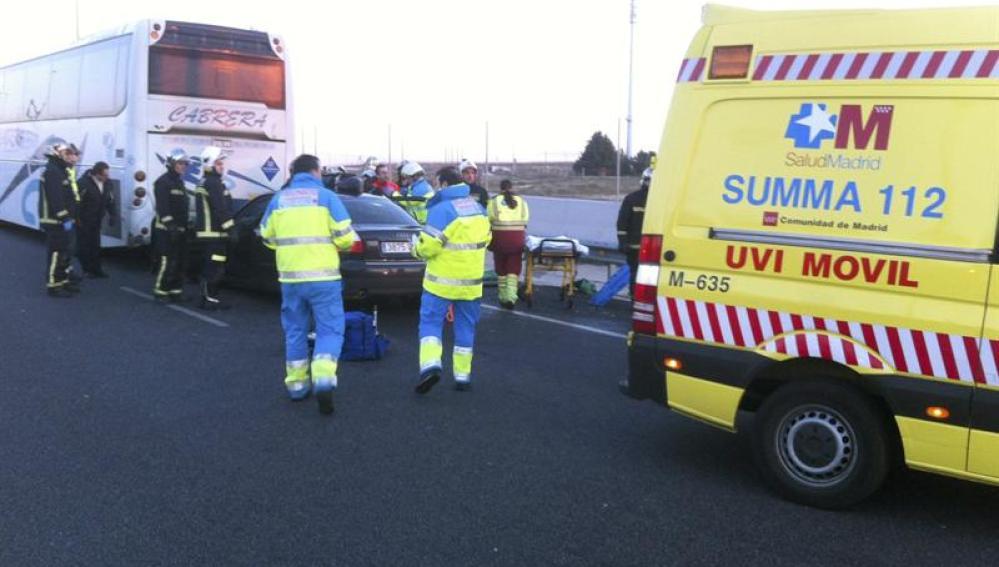 Accidente en la A-5 en Madrid