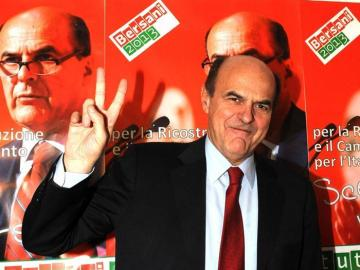 El candidato del Partido Demócrata, Pier Luigi Bersani