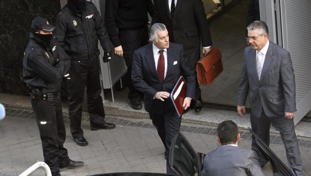 Luis Bárcenas abandona la Audiencia Nacional