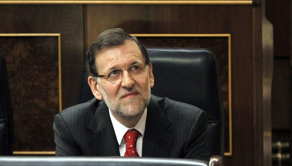 Mariano Rajoy en la sesión de control del Congreso