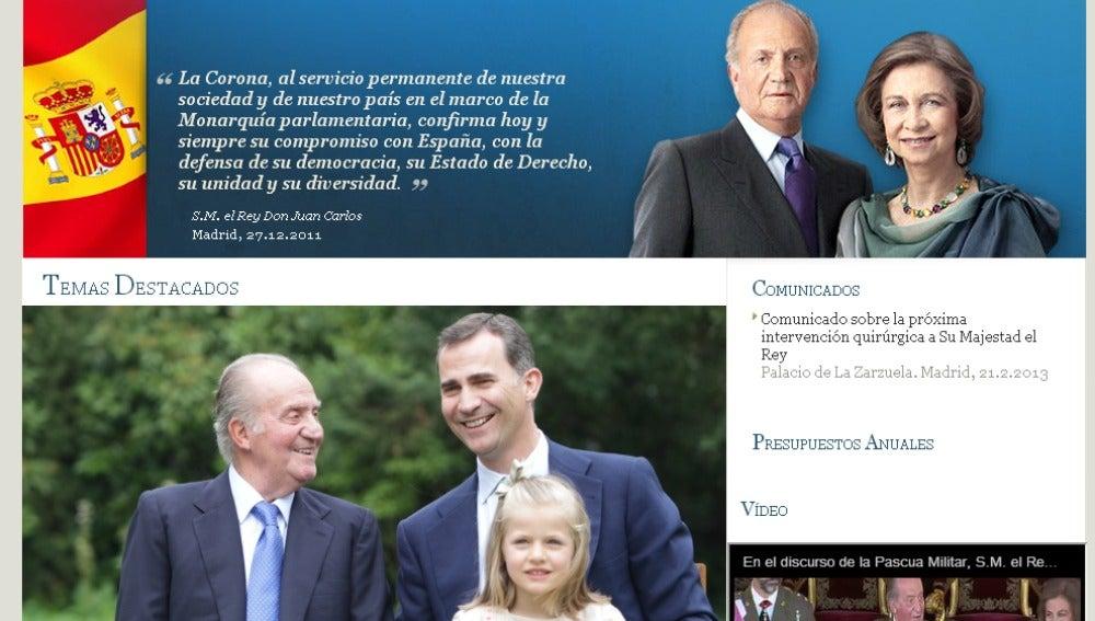 La web de la Casa Real borra el rastro de Urdangarin en sus páginas