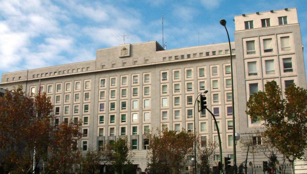 Fachada del Ministerio de Defensa en Madrid