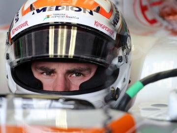 Sutil, en el cockpit del Force India