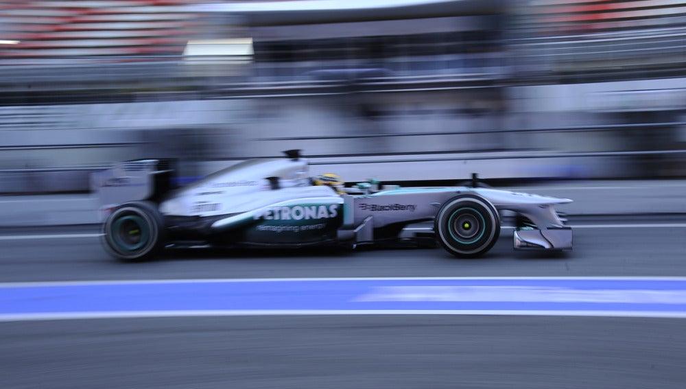 Hamilton, con el Mercedes