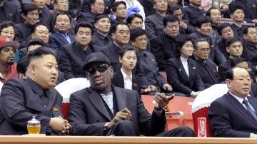 Dennis Rodman junto a Kim Jong Un