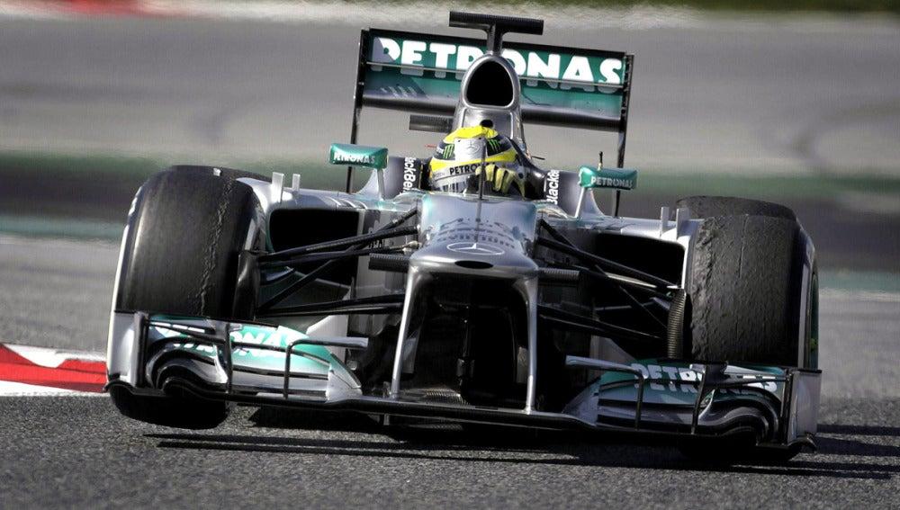 Nico Rosberg en acción