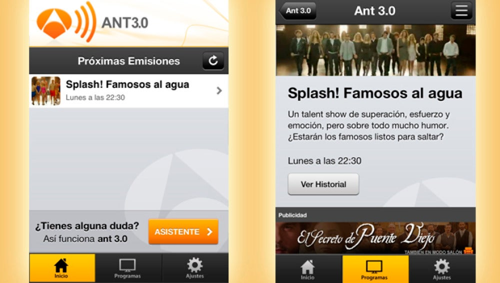 Splash en ANT3.0