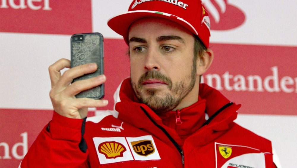 El piloto de Ferrari, Fernando Alonso