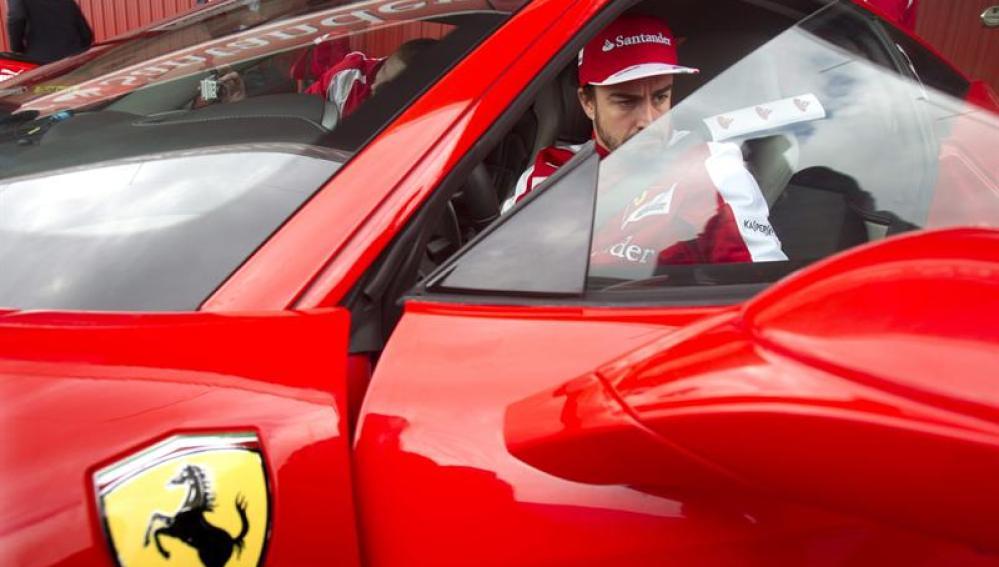 El piloto español del equipo Ferrari, Fernando Alonso