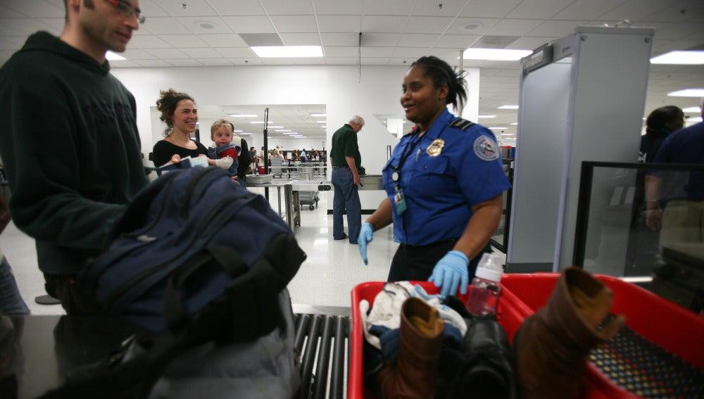 Control en un aeropuerto estadounidense