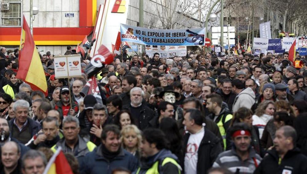 Protesta de Iberia