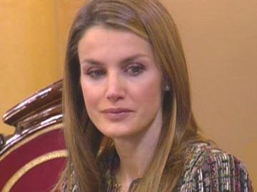 Doña Letizia, emocionada en el Senado