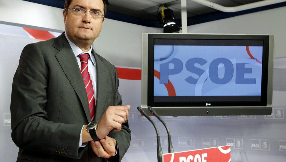 El secretario de Organización del PSOE, Oscar López