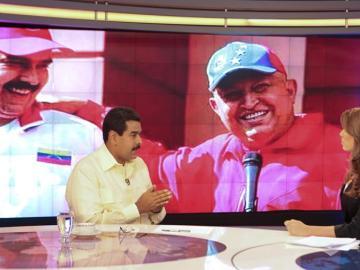 El presidente venezolano encargado, Nicolás Maduro, durante la entrevista