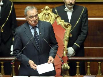 El nuevo presidente del Senado, Piero Grasso