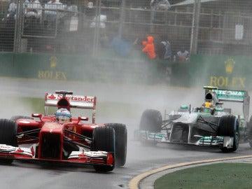 Alonso y Hamilton en Q1