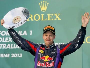 Vettel, en el podio de Australia