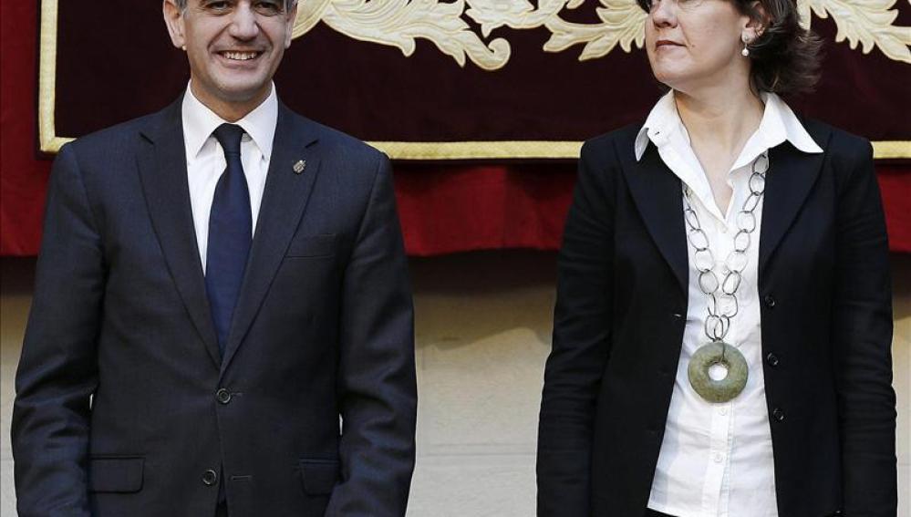 Yolanda Barcina y Alberto Catalán