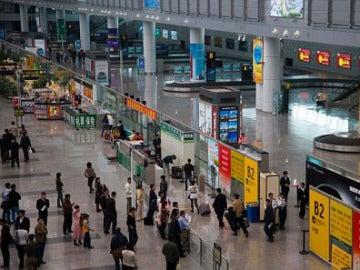 Aeropuerto de Guangzhou, en China