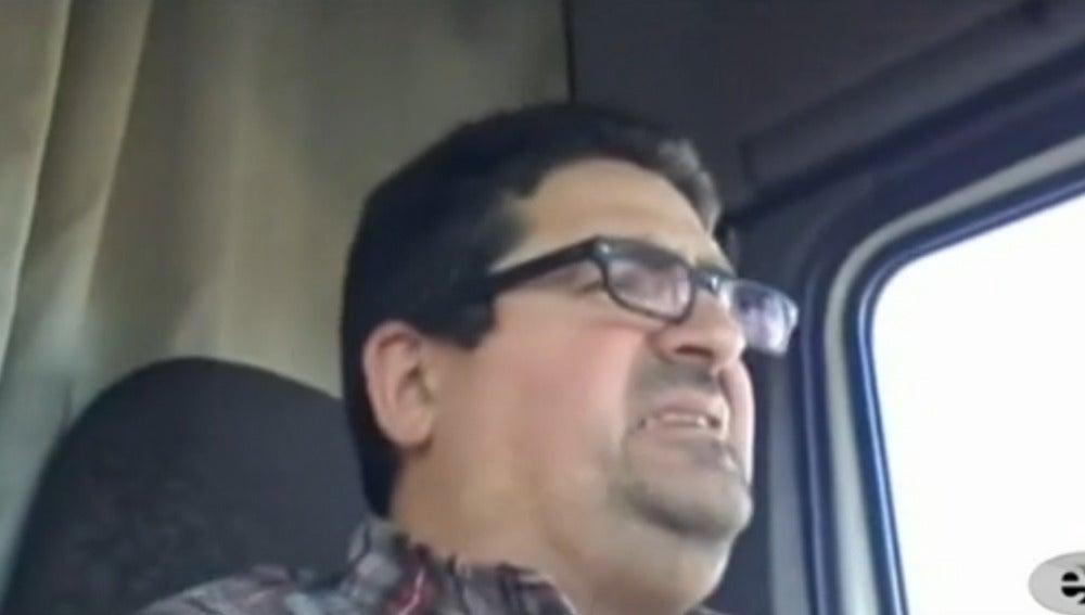 Camionero indignado