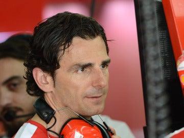 De la Rosa, en el garaje de Ferrari