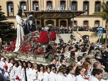 Procesión de Semana Santa en Málaga