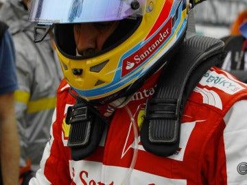 Alonso, tras su toque con Vettel