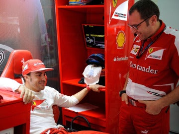 Domenicali, junto a Fernando Alonso