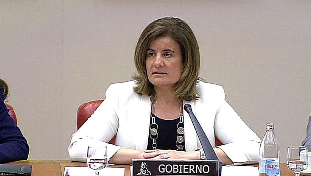 Fátima Báñez en la Comisión de Empleo
