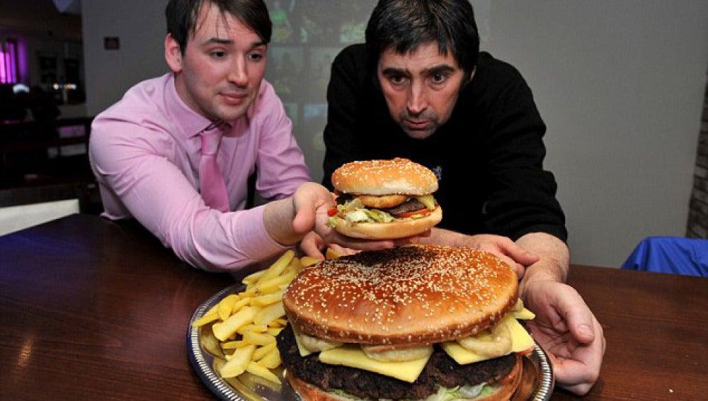 La hamburguesa más grande de Gran Bretaña