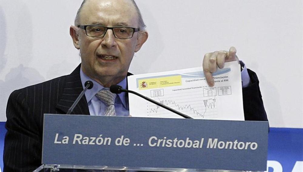 El ministro de Hacienda y Administraciones Públicas, Cristóbal Montoro, durante su intervención en el foro
