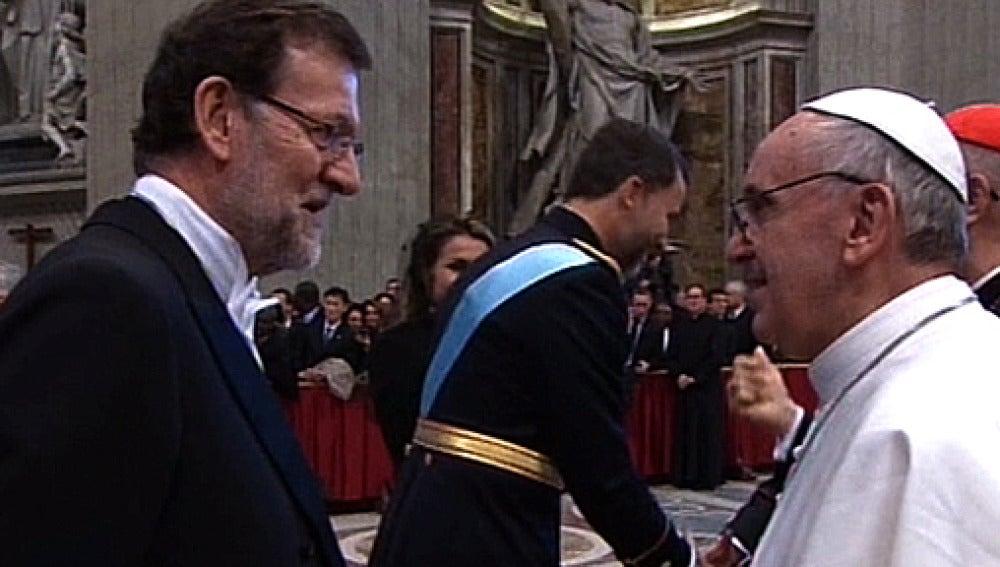 Mariano Rajoy y el Papa Francisco