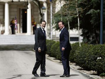David Cameron y Mariano Rajoy