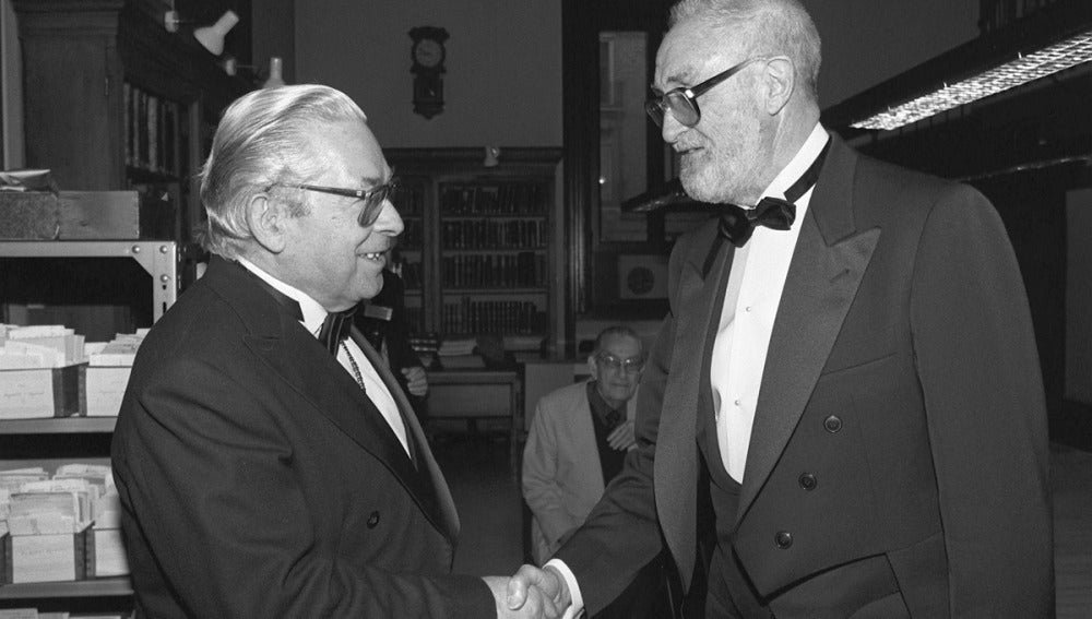 José Luis Sampedro con Manuel Alvar