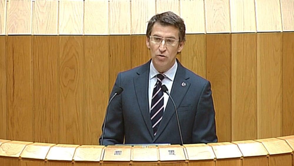 Núñez Feijóo en el parlamento gallego