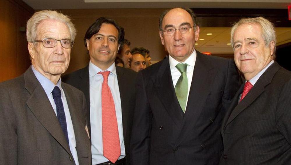 Ignacio Sánchez Galán con empresarios españoles en Nueva York