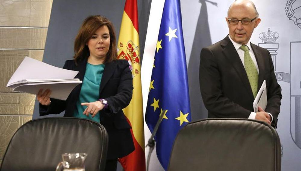 Soraya Sáenz de Santamaría junto a Cristóbal Montoro