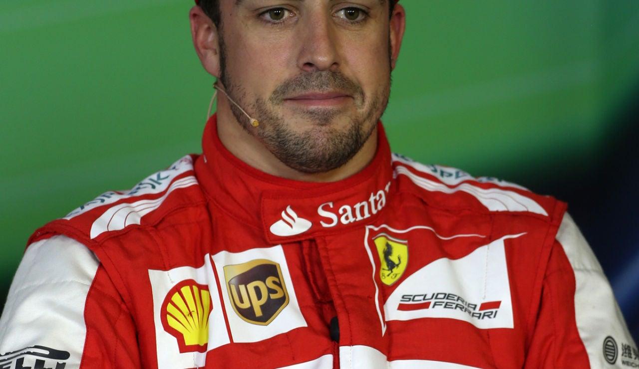 Alonso habla en rueda de prensa