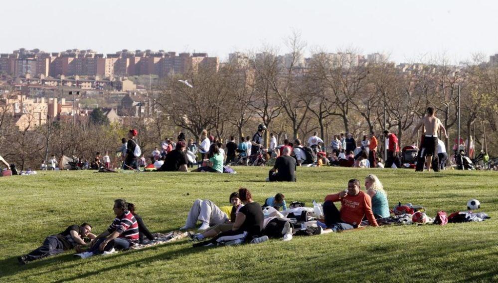 Día de parque en Madrid