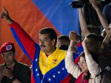 Nicolás Maduro tras ganar las elecciones en Venezuela