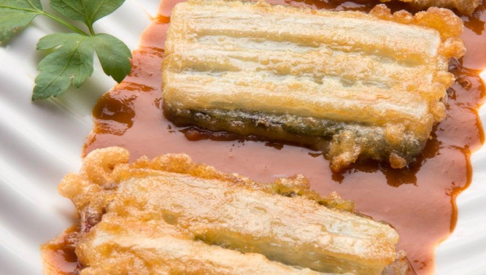 Pencas con salsa vizcaína