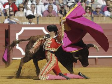 El diestro Miguel Ángel Perera recibe a 'Porta Gayola'