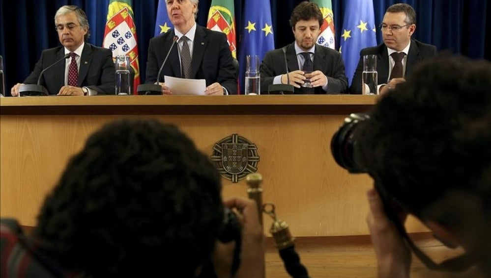Rueda de prensa tras el Consejo de Ministros extraordinario celebrado en la sede del consejo en Lisboa