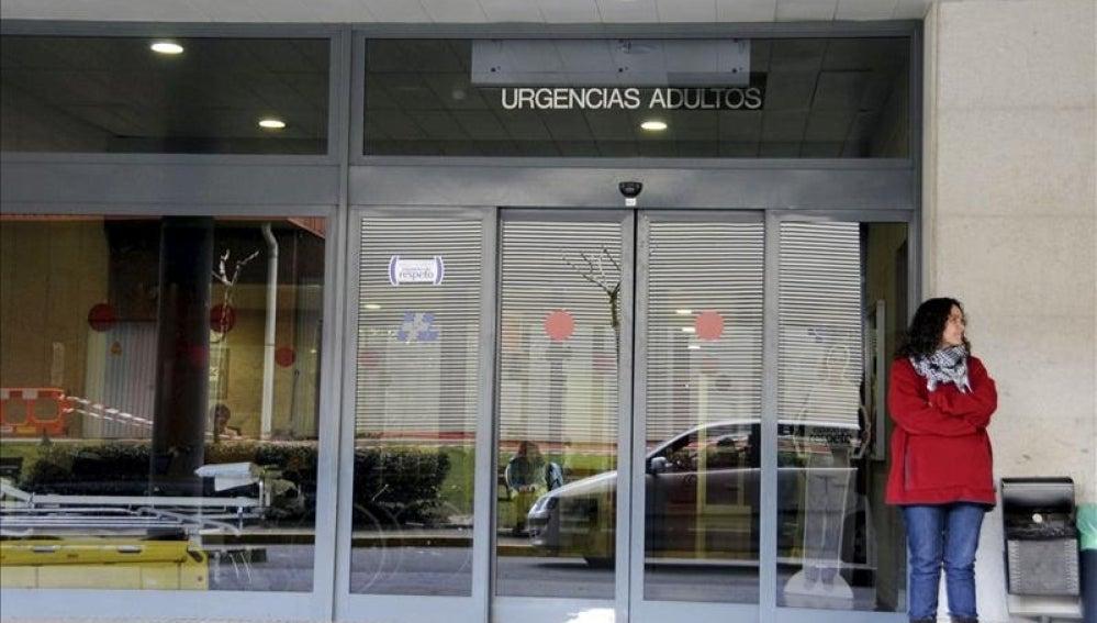 Acceso a urgencias de un hospital de León
