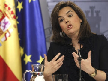 Soraya Sáenz de Santamaría, tras el consejo de ministros
